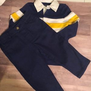 Crown &  Ivy pants set. Navy. Sz 9-12 mo